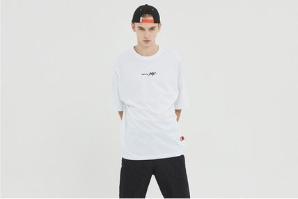 BADINBAD Crew Neck Crew Neck Unisex Street Style Cotton Short Sleeves Oversized 20