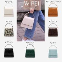 JW PEI Casual Style Faux Fur 2WAY Plain Party Style Office Style