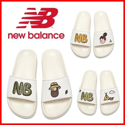 New Balance Unisex Street Style Collaboration Shower Shoes Logo