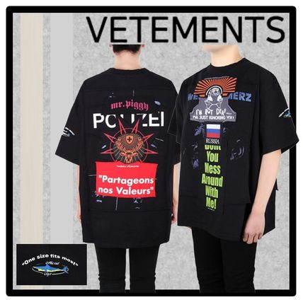 VETEMENTS More T-Shirts Unisex Street Style Short Sleeves T-Shirts