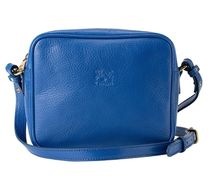 IL BISONTE Casual Style Plain Leather Crossbody Logo Shoulder Bags