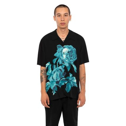 HUF Shirts Button-down Flower Patterns Street Style Short Sleeves 2