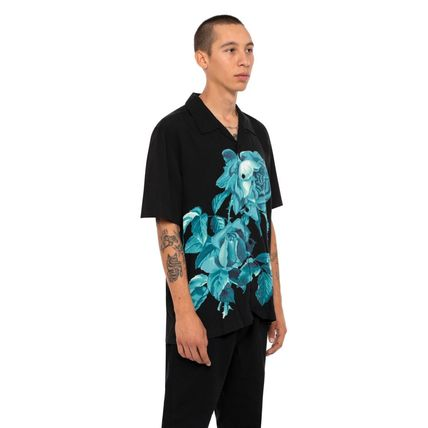 HUF Shirts Button-down Flower Patterns Street Style Short Sleeves 3