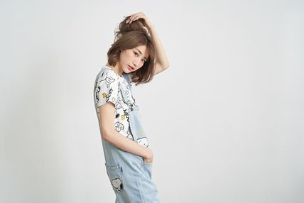 Dungarees Casual Style Denim Street Style Long Dresses