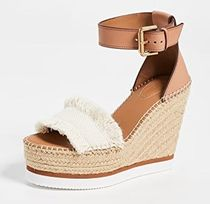 See by Chloe Open Toe Platform Rubber Sole Casual Style Plain