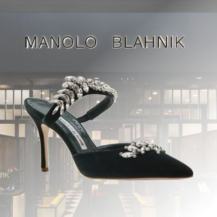 Leather Party Style With Jewels Elegant Style Mules Bridal