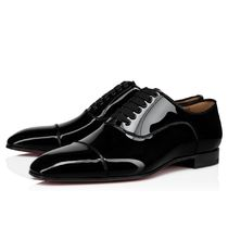 Christian Louboutin Loafers Enamel Plain Leather Loafers & Slip-ons