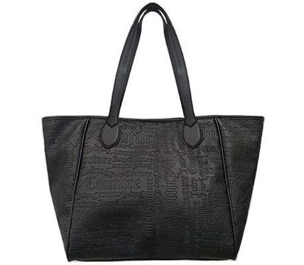 Casual Style Faux Fur Office Style Elegant Style Logo Totes