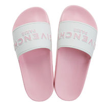 GIVENCHY Open Toe Casual Style Street Style Plain Shower Shoes