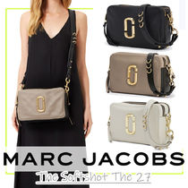 MARC JACOBS Softshot Casual Style Unisex Vanity Bags Plain Leather Party Style