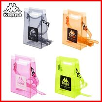 Kappa Crystal Clear Bags PVC Clothing Crossbody Logo Shoulder Bags