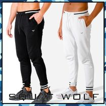 SQUAT WOLF Blended Fabrics Street Style Co-ord Activewear Bottoms