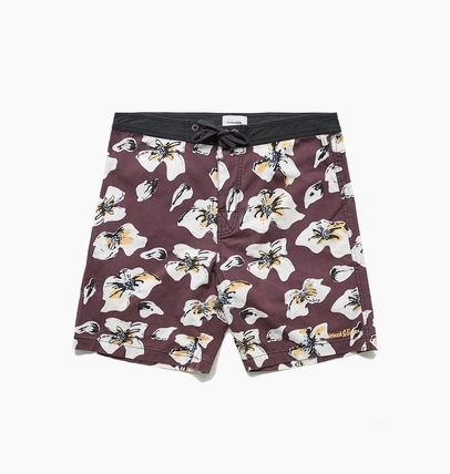 Flower Patterns Street Style Logo Swimwear