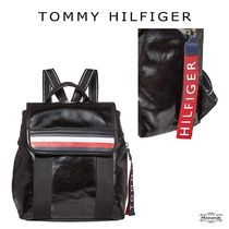Tommy Hilfiger Casual Style Faux Fur A4 2WAY Plain Logo Backpacks