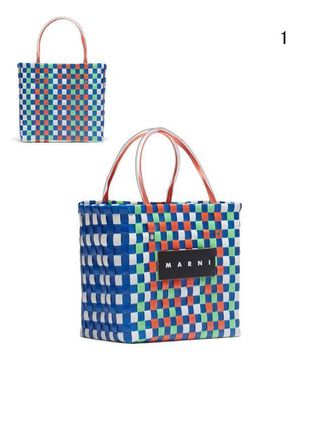 MARNI Totes Other Plaid Patterns Casual Style Unisex Totes 3