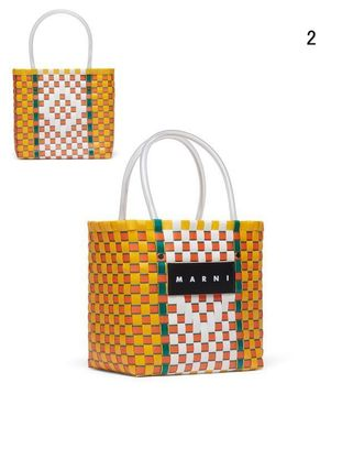 MARNI Totes Other Plaid Patterns Casual Style Unisex Totes 4
