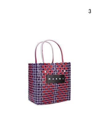 MARNI Totes Other Plaid Patterns Casual Style Unisex Totes 5