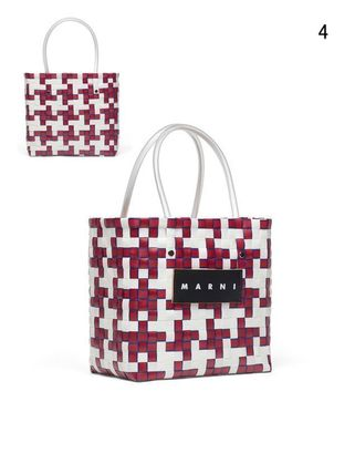 MARNI Totes Other Plaid Patterns Casual Style Unisex Totes 6