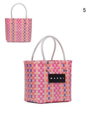 MARNI Totes Other Plaid Patterns Casual Style Unisex Totes 7