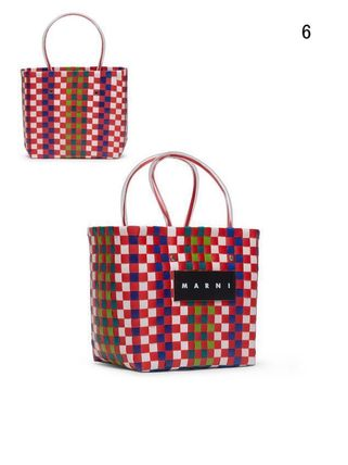 MARNI Totes Other Plaid Patterns Casual Style Unisex Totes 8