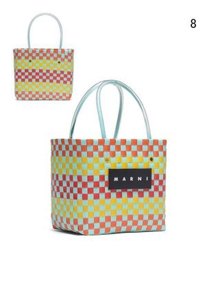 MARNI Totes Other Plaid Patterns Casual Style Unisex Totes 10