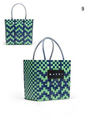 MARNI Totes Other Plaid Patterns Casual Style Unisex Totes 11