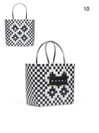 MARNI Totes Other Plaid Patterns Casual Style Unisex Totes 12