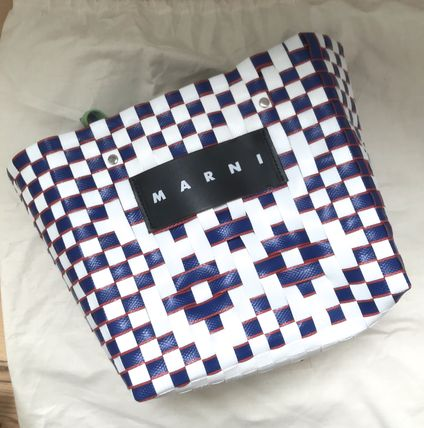 MARNI Totes Other Plaid Patterns Casual Style Unisex Totes 13