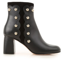 RED VALENTINO Leather Mid Heel Boots
