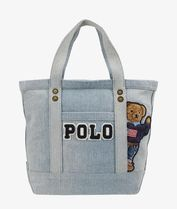 POLO RALPH LAUREN Casual Style Unisex Canvas Street Style Logo Totes