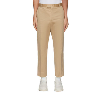 Tapered Pants Plain Cotton Tapered Pants
