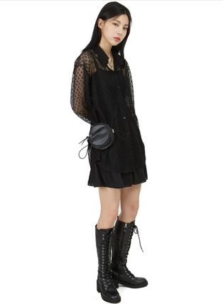 Lace-up Casual Style Street Style Lace-up Boots