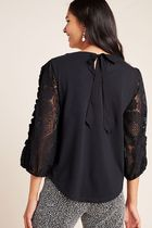 Anthropologie Cropped Plain Medium Lace Tops