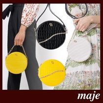 maje Casual Style 3WAY Other Animal Patterns Leather Party Style
