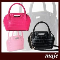 maje Casual Style 2WAY Other Animal Patterns Leather Party Style