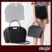 maje Casual Style 2WAY Leather Party Style Office Style
