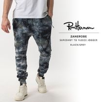 Ron Herman Street Style Tie-dye Cotton Logo Joggers & Sweatpants