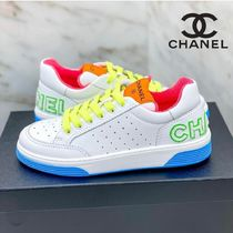 CHANEL Street Style Plain Sneakers