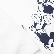 Wood Wood Crew Neck Pullovers Street Style Collaboration Plain Cotton
