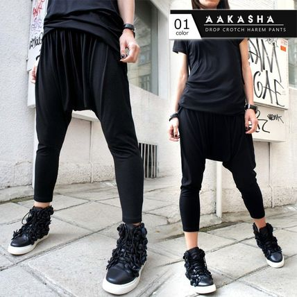 Aakasha Casual Style Plain Cotton Medium Elegant Style Sarouel Pants