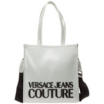 VERSACE JEANS Casual Style Street Style A4 2WAY 3WAY Plain Crossbody Logo