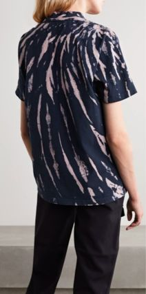 Crew Neck Street Style Tie-dye Plain Cotton Short Sleeves