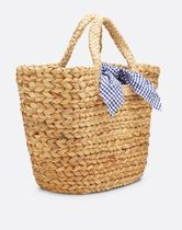 Draper James Tropical Patterns Plain Straw Bags