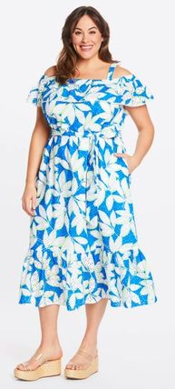 Flower Patterns Casual Style A-line Street Style Medium