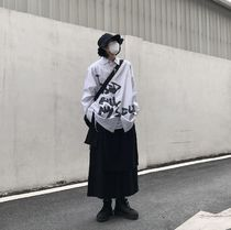 Street Style Plain Cotton Oversized Sarouel Pants