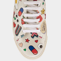 Anya Hindmarch Leather Low-Top Sneakers