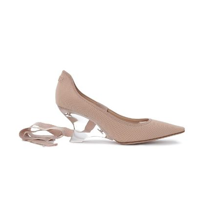 Christian Dior Casual Style Plain Leather Wedge Pumps & Mules