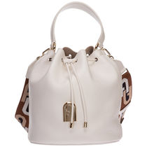 FURLA Casual Style 2WAY 3WAY Chain Plain Leather Party Style