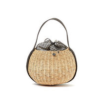 MUUN Other Plaid Patterns Vanity Bags Plain Straw Bags