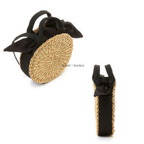 MUUN 2WAY Plain Crossbody Straw Bags